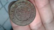 Монета медная, состояние хорошее