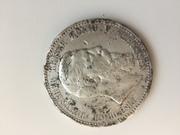 Монета Фридрих 3 1888 года 5 марок серебро